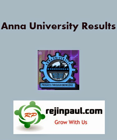 Anna University April May 2014 Results 2nd 4th 6th 8th Semester Results