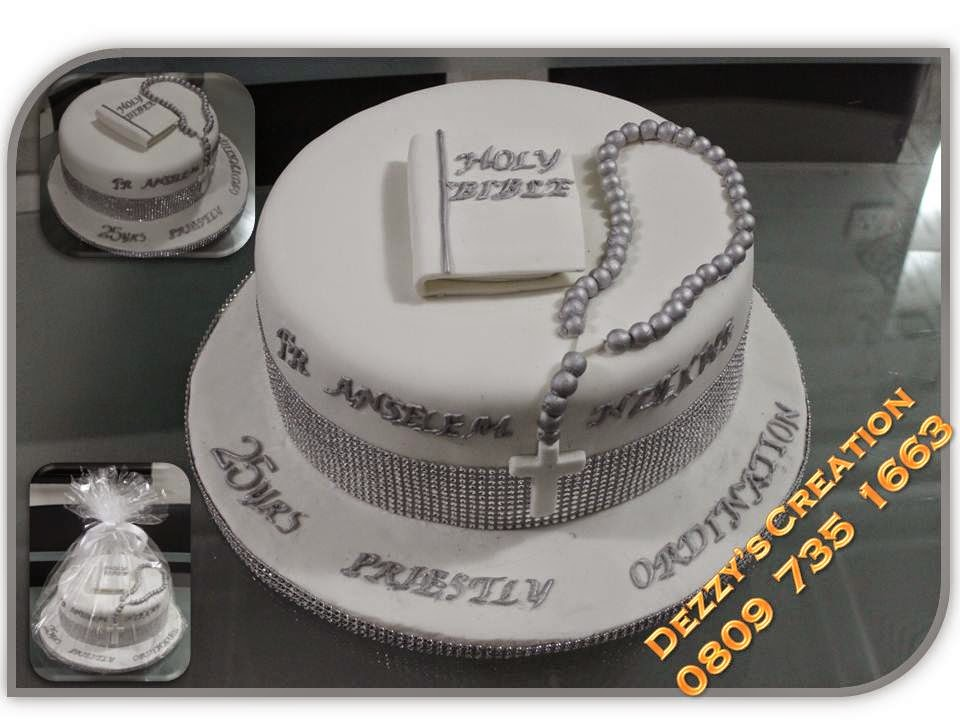Cake Designs For Silver Jubilee : Dezzy s Creation: SILVER JUBILEE CAKE FOR A PRIEST