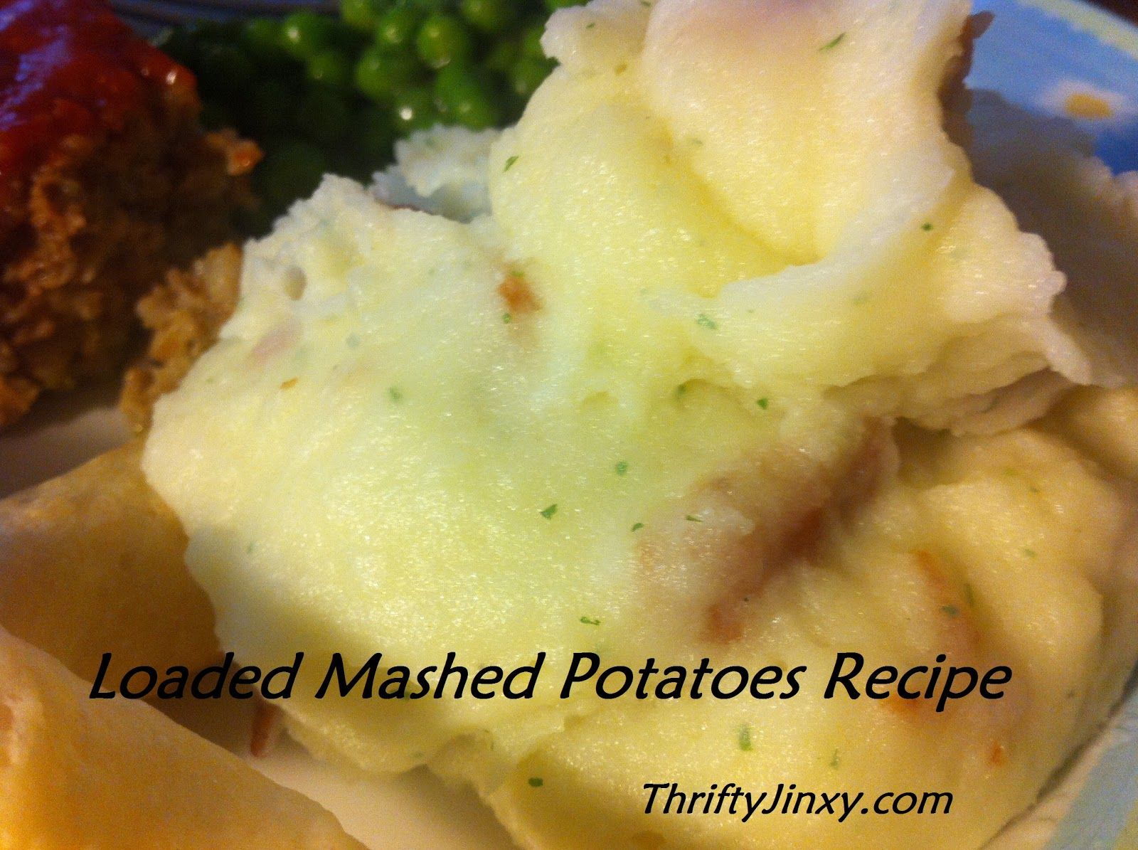 Easy Loaded Mashed Potatoes Recipe (Using Instant Potatoes) - Thrifty ...