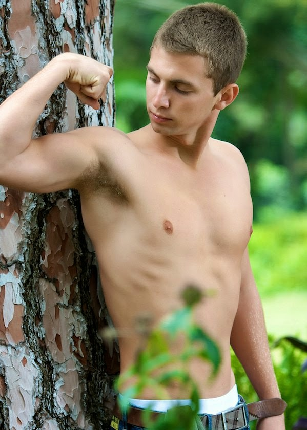 Blonde Jock's Hairy Armpits Outdoors