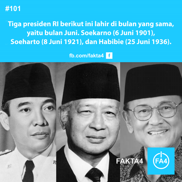 Tiga Presiden Indonesia yang Lahir di Bulan Juni