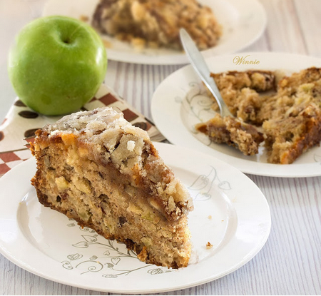 Something Sweet: Apple Cake with Caramel Glaze