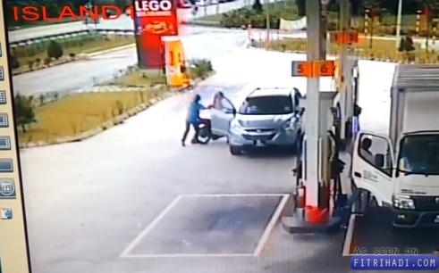 Video Kes Ragut Stesen Minyak Shell Sri Muda Shah Alam