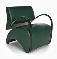 Dark Green Recoil Chair 841 by OFM