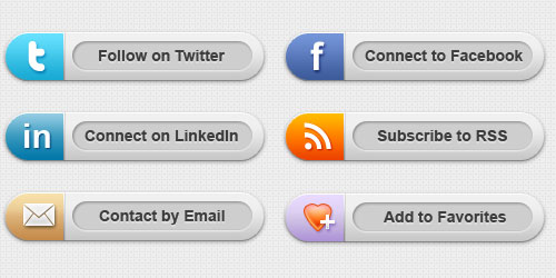 Free Chrome Social Media Buttons Download