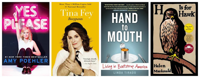 amy poehler yes please tina fey bossypants linda tirado hand to mouth h is for hawk helen macdonald