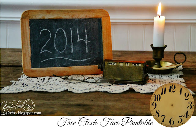 Clock Face, Slate Chalkboard, Antique Brass Calendar, Brass Candle Holder Candlestick via Knick of Time
