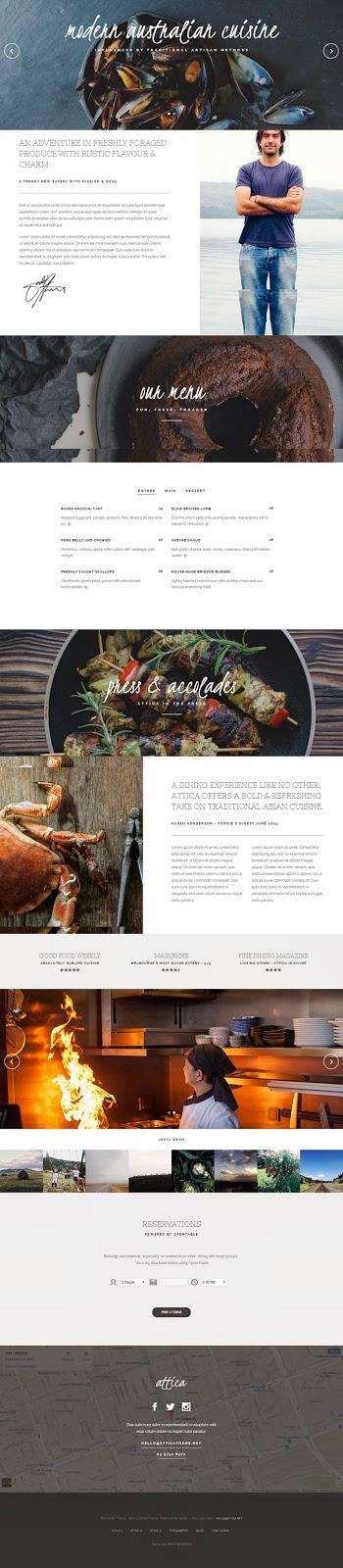 Attica One Page Restaurant Joomla Template