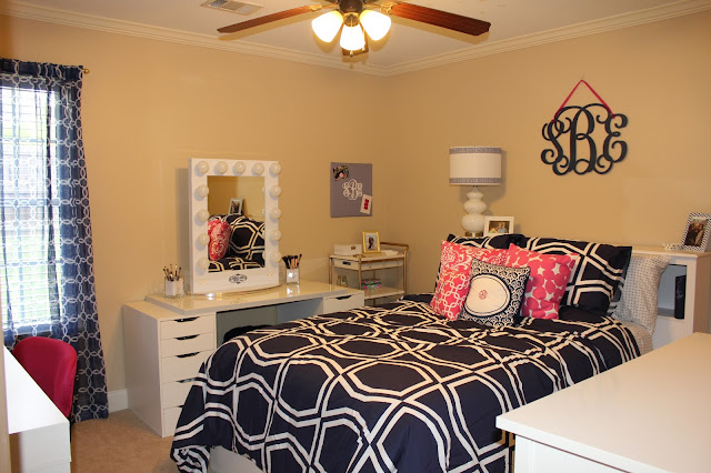 Cute room with Kate Spade Bedding Anchors and Pearls