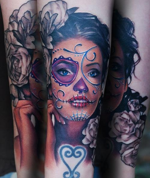rad tats sugar skull girls. Black Bedroom Furniture Sets. Home Design Ideas