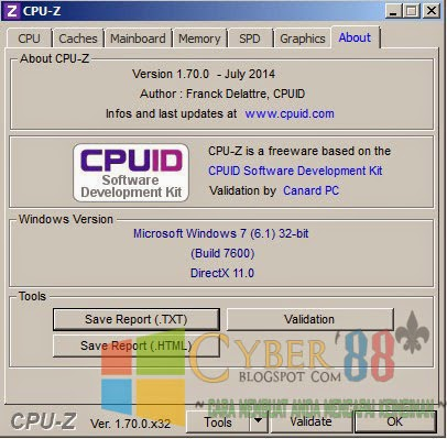 CPU-Z 1.70 Full Version