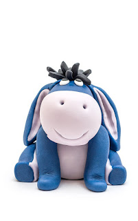 Winnie the Pooh Eeyore fondant figurine front
