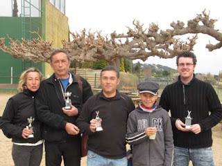 Guanyadors Circuit Sota Par Tennis Mora (febrer 2012)
