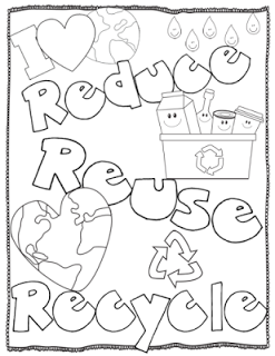 reduce reuse recycle coloring pages - educating with heart earth day fun