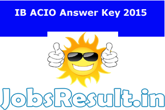 IB ACIO Answer Key 2015