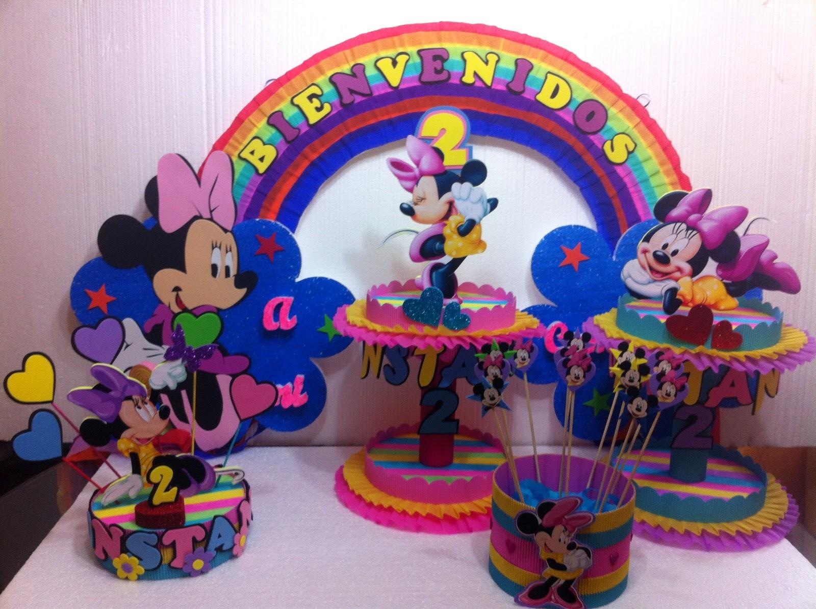 Decoraciones infantiles centro de mesa minnie ajilbabcom for Decoracion de mesas infantiles