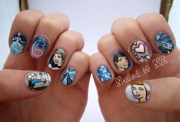 disney nail art #3 - cinderella