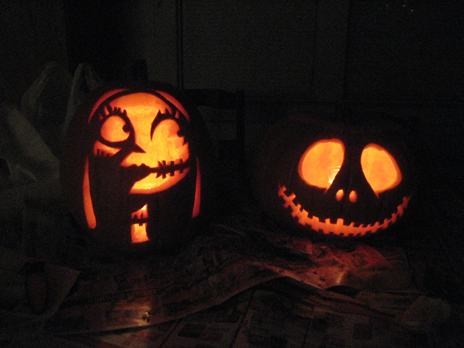 Images of Jack And Sally Pumpkin Patterns - #SpaceHero