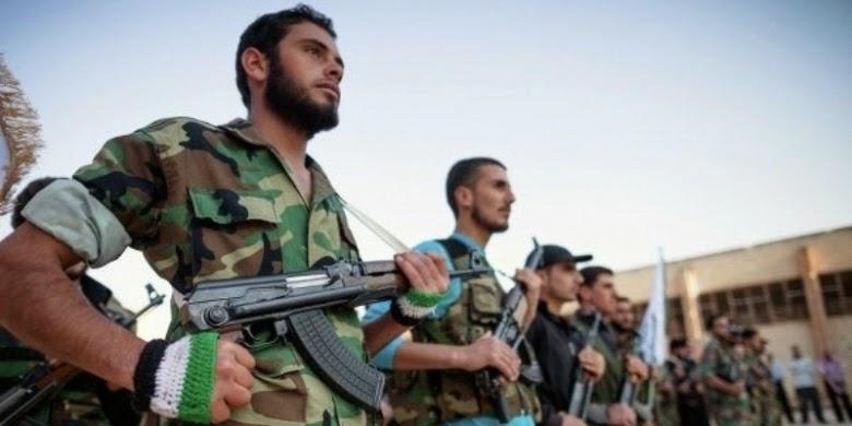 Pasukan pemberontak Suriah.