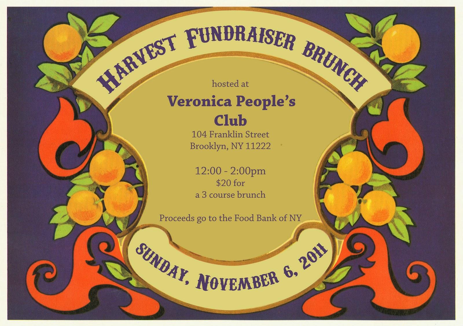 Harvest Fundraiser Announcement
