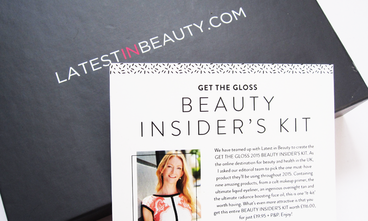 Latest In Beauty - 'Get The Gloss Beauty Insider's Kit' 2015 review