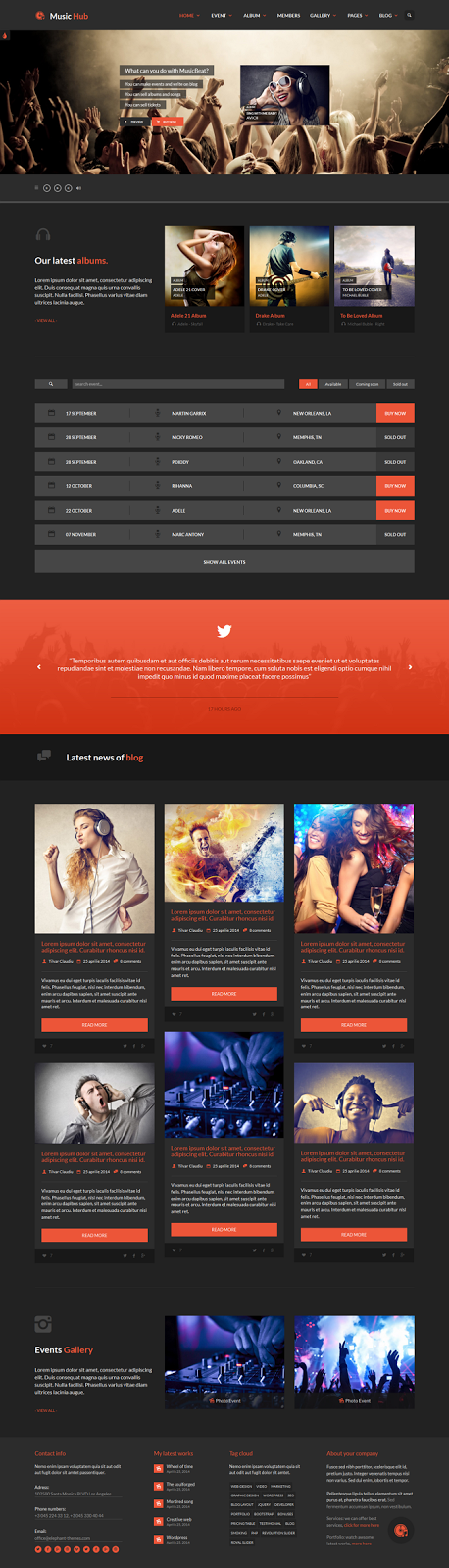 Responsive theme for bands