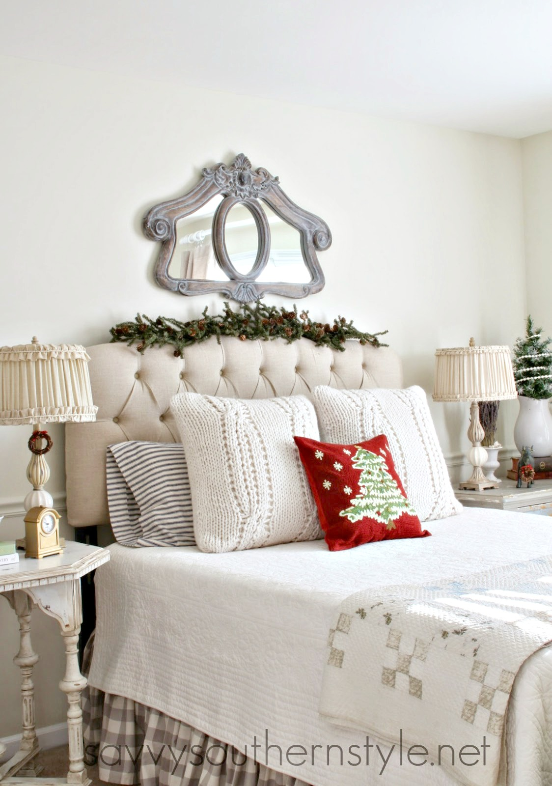 french style guestroom christmas 12192014 - French Style Christmas Decorations