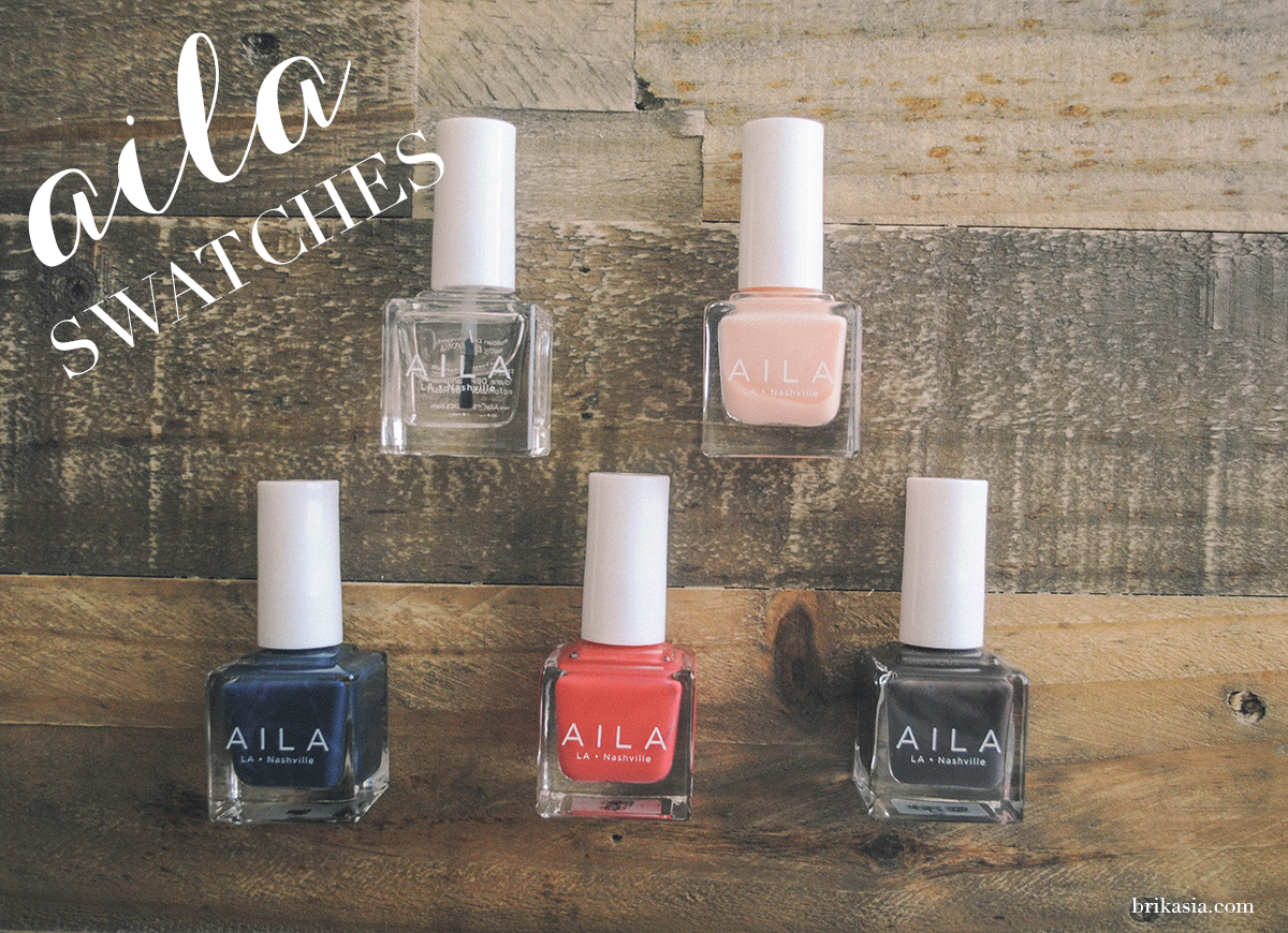 aila cosmetics, aila nail polish review, aila nail lacquer swatch, aila ms. martin, ginger, mister pookies, my 2 jeffs, better than gel top coat, best green beauty nail polishes