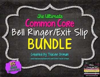 http://www.teacherspayteachers.com/Product/Common-Core-Reading-Writing-Bell-Ringers-Exit-Slips-BUNDLE-Vol-1-825536