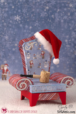 3d svg Santa's Chair
