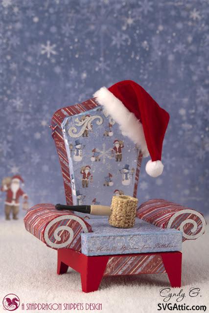 3d svg Santa's Chair