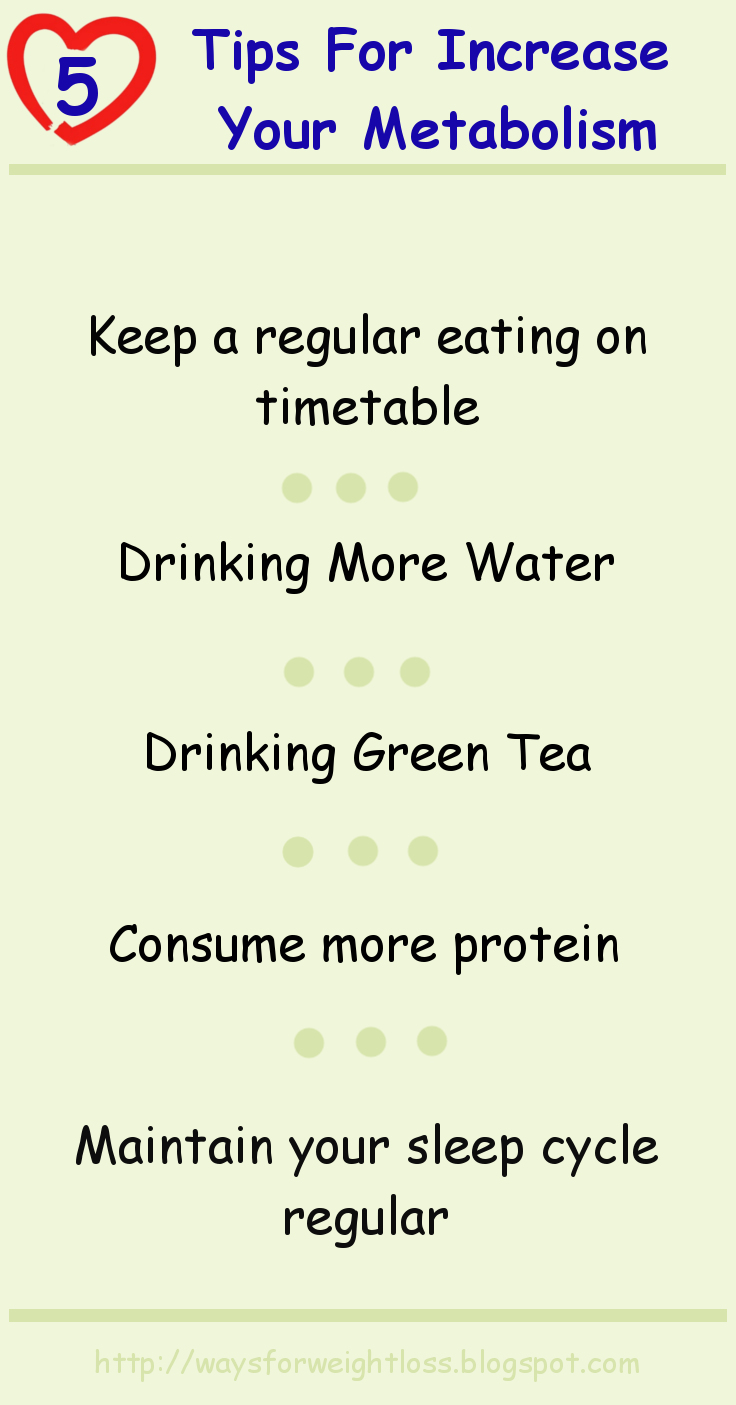 5 Tips For Increase Your Metabolism