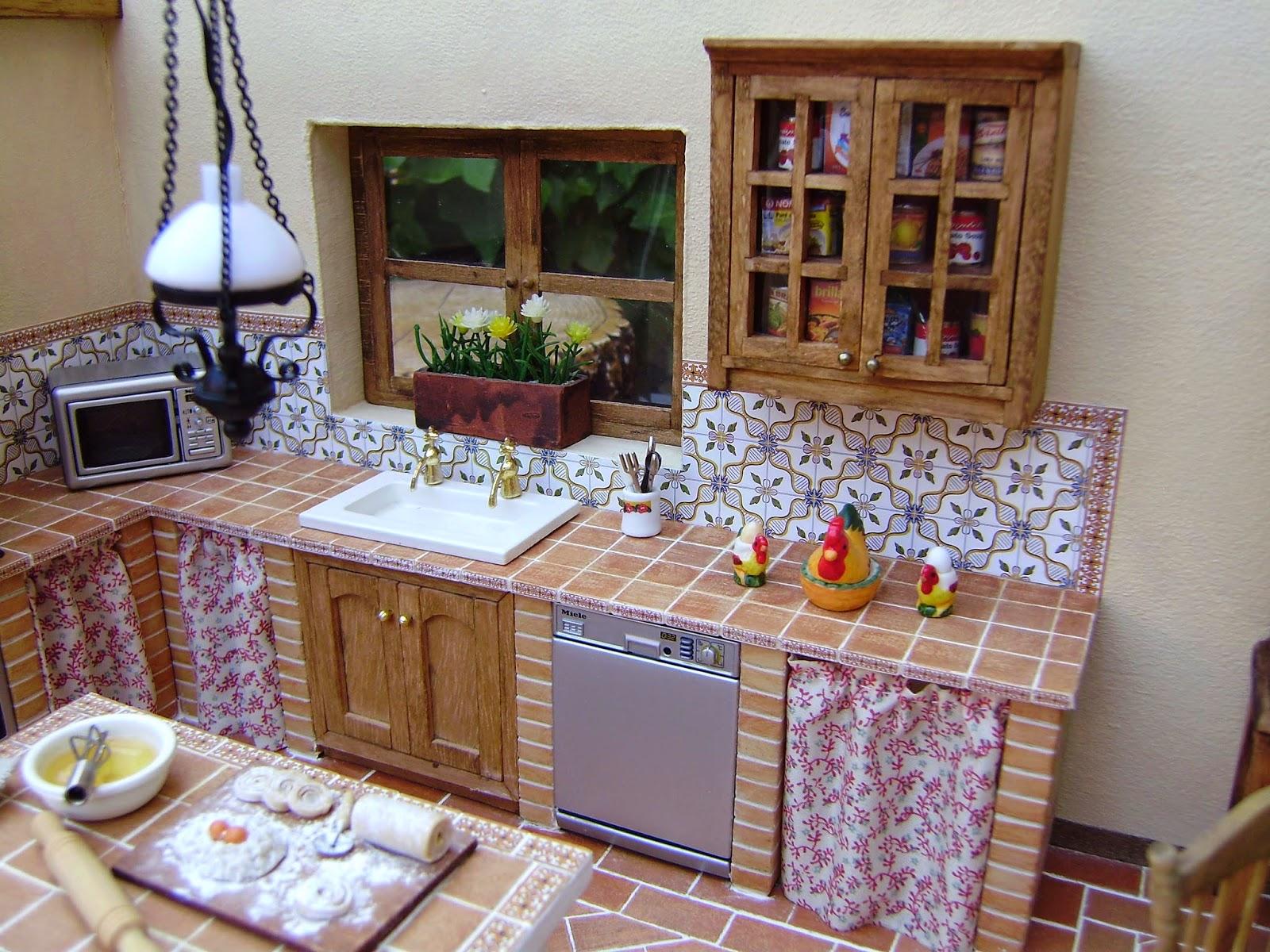 Mi nueva cocina r stica sin parar de trastear for Muebles de cocina con cortinas