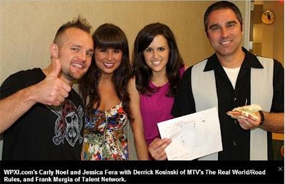 Derrick Kosinski, Frank Murgia, MTV Real World Road Rules, WPXI, Pittsburgh's Best Hoagie, talent network