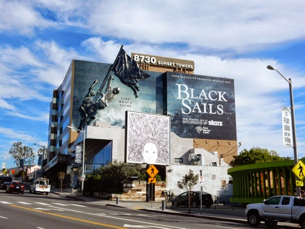 3D Black Sails season 2 billboard