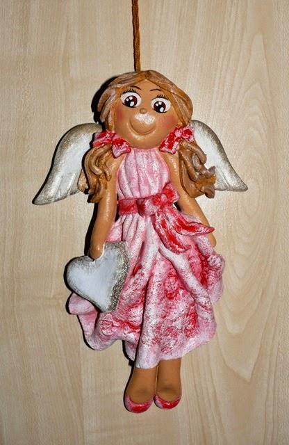 aniołek z masy solnej