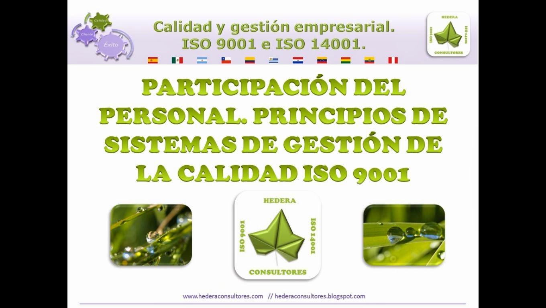 Participación del personal ISO 9001