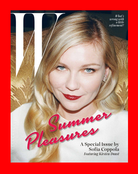 Kirsten Dunst by Juergen Teller for W Magazine May 2014