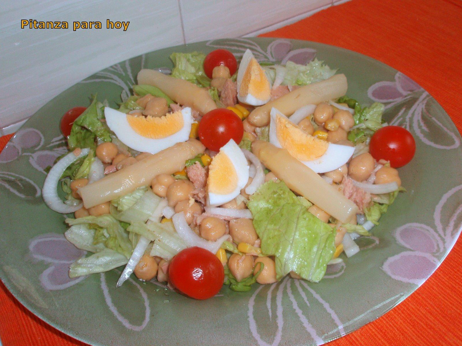 Pitanza para hoy ensalada de garbanzos - Preparacion de garbanzos cocidos ...