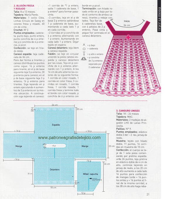 Revista todo moda con ropa tejida de niños