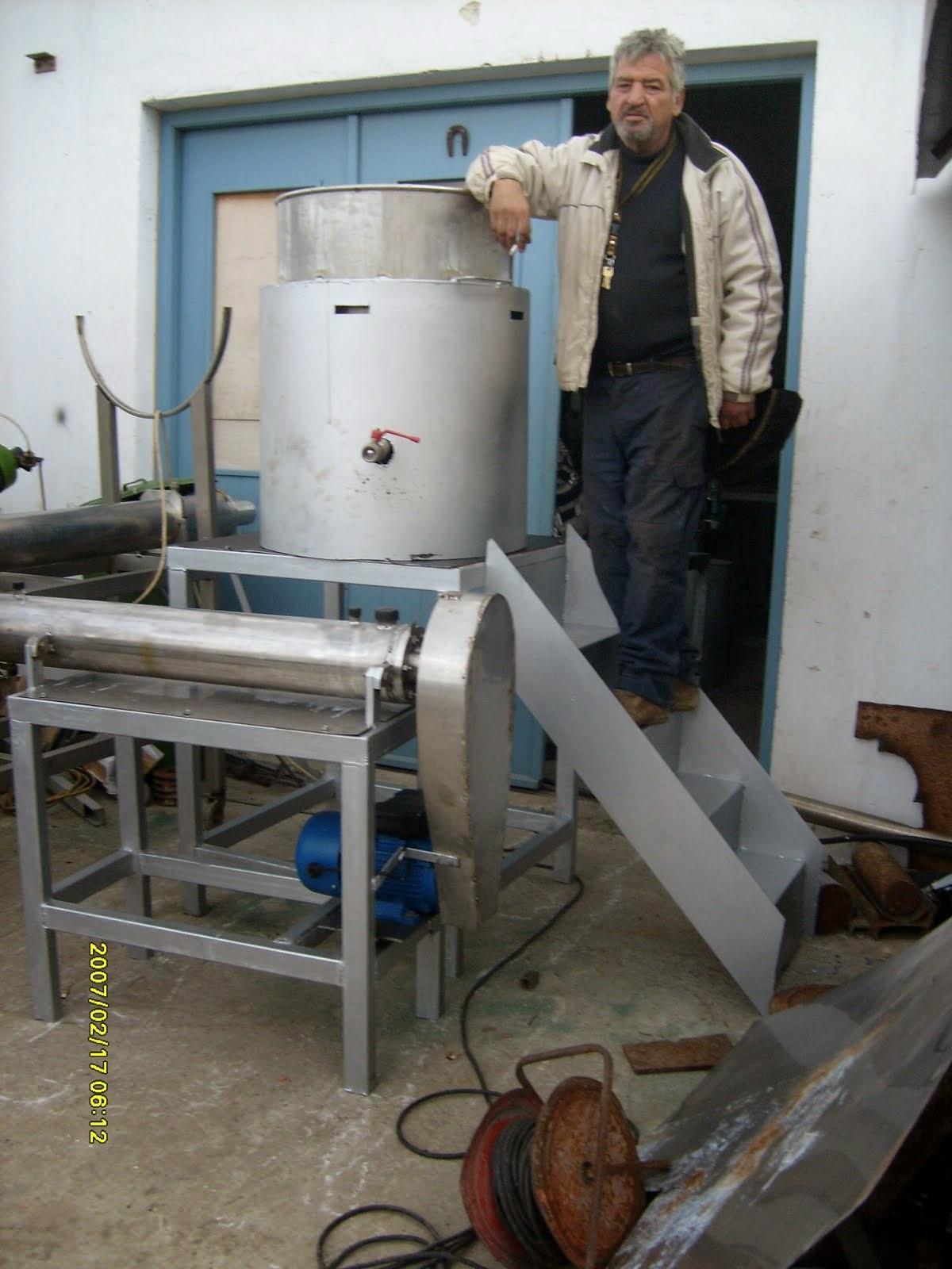 βανιλομηχανή 1,2 με καζανι που βραζει 150 κιλά ζάχαρη