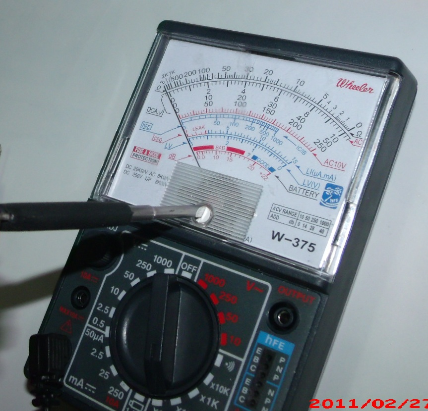 Infinite Resistance Ohmmeter : Gold test ohmmeter autos post