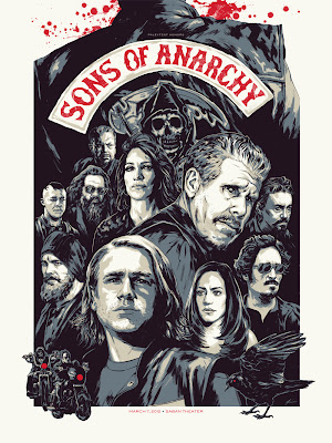 Sons of Anarchy Screen Print by Phantom City Creative