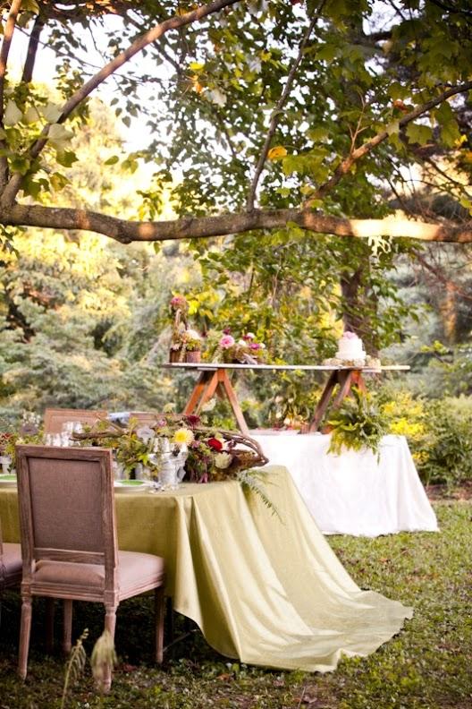 ideas para una boda rustica en el jardin