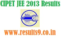 CIPET JEE 2013 Results