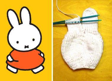 Miffy the bunny knitted plushie amigurumi knitting