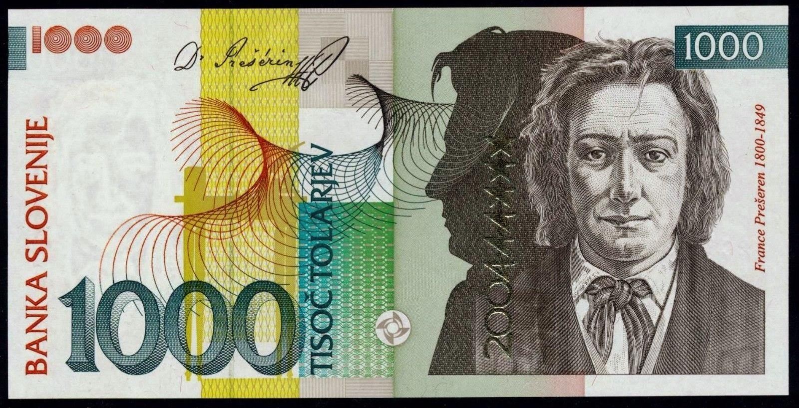 Slovenia 1000 tolarjev