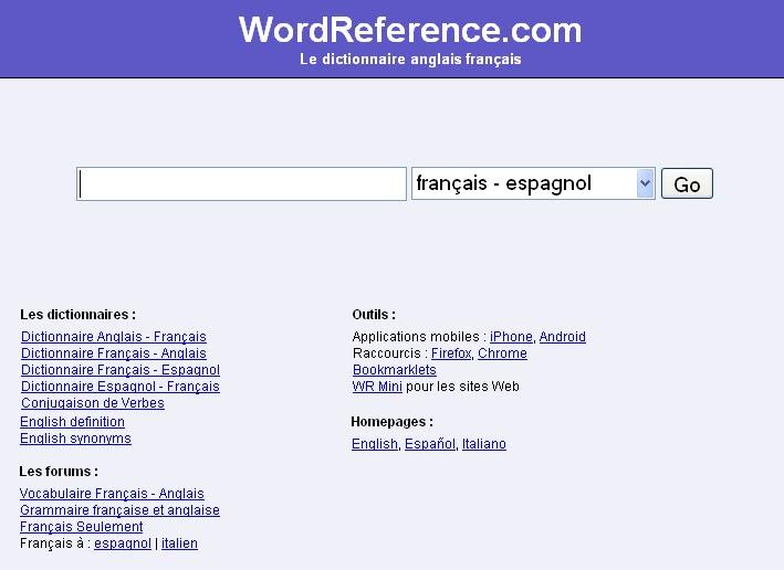 diccionario espanol frances wordreference: