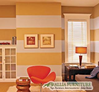 Desain garis grafis horizontal dekorasi rumah