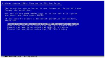 Memilih NTFS file System